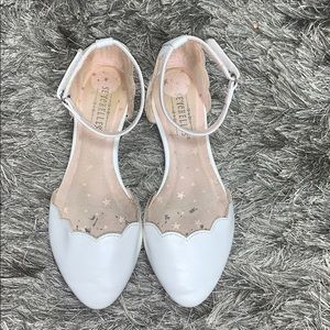 Children's white flats size 13